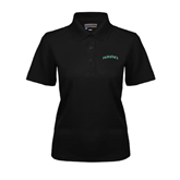 Ladies Black Dry Mesh Polo-Hawaii Arch