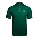 Dark Green Pique Polo-Official Logo