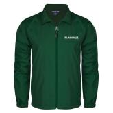 Full Zip Dark Green Wind Jacket-Hawaii