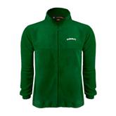 Fleece Full Zip Dark Green Jacket-Hawaii Arch