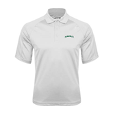 White Textured Saddle Shoulder Polo-Hawaii Arch