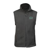 Fleece Full Zip Charcoal Vest-Official Logo