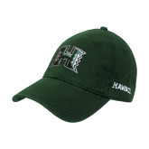 Dark Green Twill Unstructured Low Profile Hat-Official Logo
