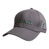 Charcoal Heavyweight Twill Pro Style Hat-Hawaii