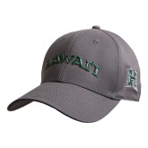 Charcoal Heavyweight Twill Pro Style Hat-Hawaii Arch
