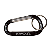 Black Carabiner with Split Ring-Hawaii Engraved