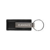 Leather Classic Black Key Holder-Hawaii Engraved