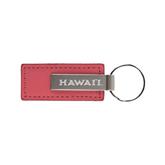 Leather Classic Pink Key Holder-Hawaii Engraved