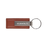 Leather Classic Brown Key Holder-Hawaii Engraved
