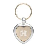 Silver/Gold Heart Key Holder-Official Logo Engraved