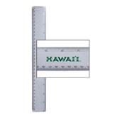 12 Inch White Plastic Ruler-Hawaii
