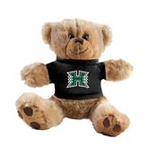 Plush Big Paw 8 1/2 inch Brown Bear w/Black Shirt-Official Logo