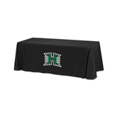 Black 6 foot Table Throw-Official Logo