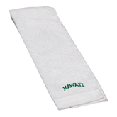 White Golf Towel-Hawaii Arch