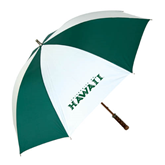 62 Inch Forest Green/White Umbrella-University Of Hawaii