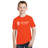 Youth Orange T Shirt-Hendrix Warriors Horizontal