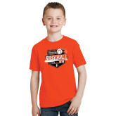 Youth Orange T Shirt-Baseball