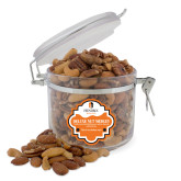 Deluxe Nut Medley Round Canister-Hendrix Warriors Stacked Logo