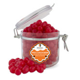 Sweet & Sour Cherry Surprise Round Canister-Hendrix Warriors Stacked Logo