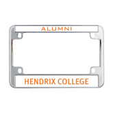 Metal Motorcycle License Plate Frame in Chrome-Hendrix College