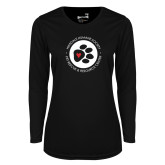 Ladies Syntrel Performance Black Longsleeve Shirt-Primary Mark