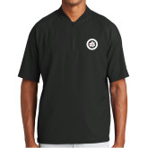 New Era Black Cage Short Sleeve 1/4 Zip-Secondary Mark