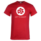 Red T Shirt-Opt To Adopt