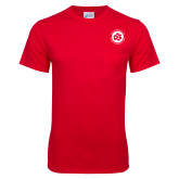 Red T Shirt w/Pocket-Primary Mark