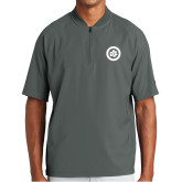 New Era Charcoal Cage Short Sleeve 1/4 Zip-Secondary Mark