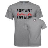 Grey T Shirt-Adopt a Pet Save a Life