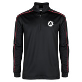 Nike Golf Dri Fit 1/2 Zip Black/Red Pullover-Primary Mark