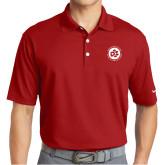 Nike Golf Dri Fit Red Micro Pique Polo-Primary Mark