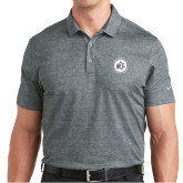 Nike Dri Fit Charcoal Crosshatch Polo-Primary Mark