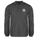 V Neck Charcoal Raglan Windshirt-Primary Mark