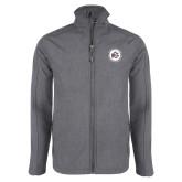 Grey Heather Softshell Jacket-Primary Mark