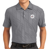 Nike Dri Fit Charcoal Embossed Polo-Primary Mark