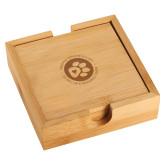Bamboo Coaster Set-Primary Mark Engraved