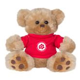 Plush Big Paw 8 1/2 inch Brown Bear w/Red Shirt-Primary Mark