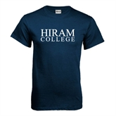 Navy T Shirt-Hiram College Institutional