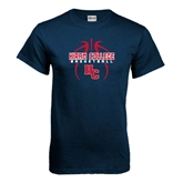 Navy T Shirt-Logo in Ball