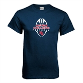 Navy T Shirt-Hiram College in Ball