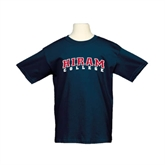 Youth Navy T Shirt-Arched Hiram College