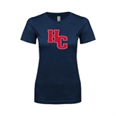 Next Level Ladies SoftStyle Junior Fitted Navy Tee-HC