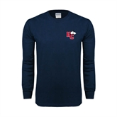 Navy Long Sleeve T Shirt-HC w/Terrier Head