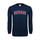 Navy Long Sleeve T Shirt-Arched Hiram College