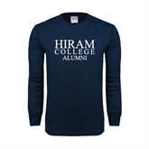 Navy Long Sleeve T Shirt-Institutional Logo Alumni
