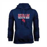 Navy Fleece Hoodie-Hiram College Terriers w/HC