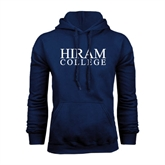Navy Fleece Hoodie-Hiram College Institutional