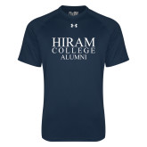 Under Armour Navy Tech Tee-Institutional Logo Alumni