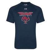 Under Armour Navy Tech Tee-Hiram College Terriers on Ball